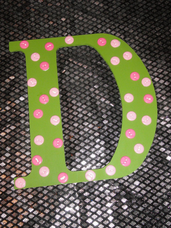 Letter D Wooden Letter Button