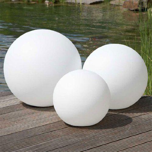 led leuchtball lichtball leuchtkugel garten lampe beleuchtung 50 cm garten pi. Black Bedroom Furniture Sets. Home Design Ideas