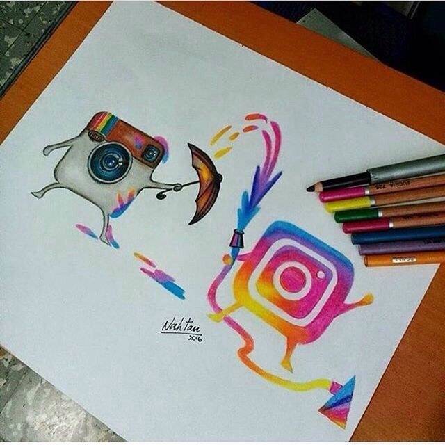 Art Ideas App: Instagram Novo Colorindo O Antigo