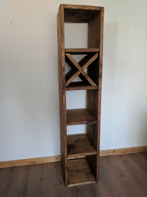 Hallway furniture gumtree  Cube Bookshelf Storage Unit Media Unit Handcrafted from Reclaimed