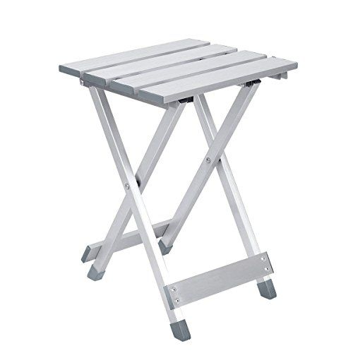 da8c6c28ede3 Aobeau Folding Aluminum Stool Portable Folding Chair Metal Mazar ...