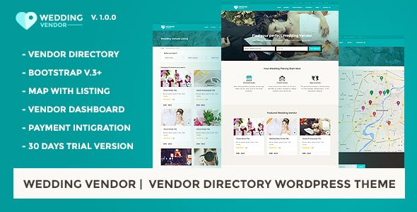 Free Vendor Directory WordPress Theme Wedding