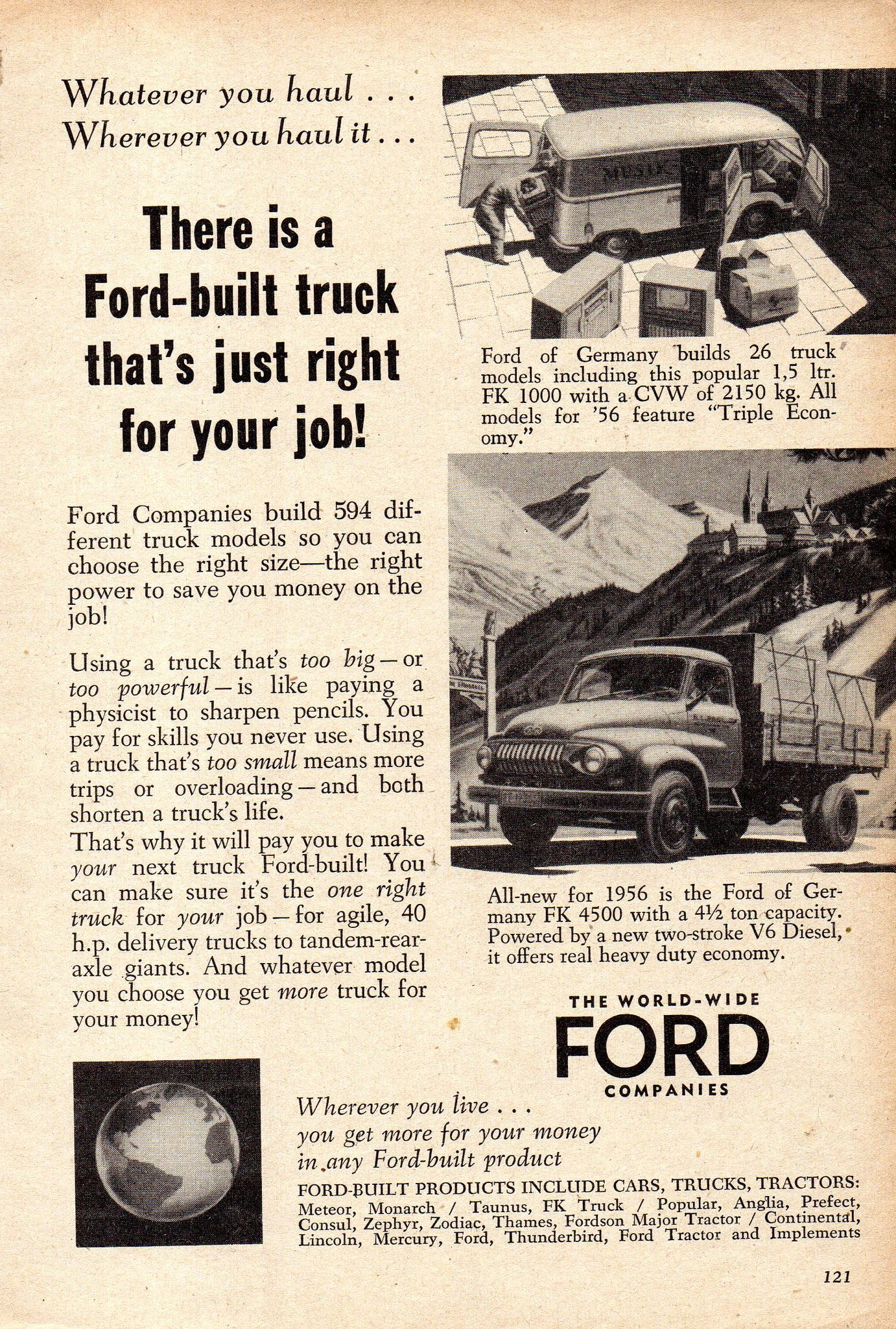 1956 World Wide Ford Companies Trucks Page 2 Aussie Original