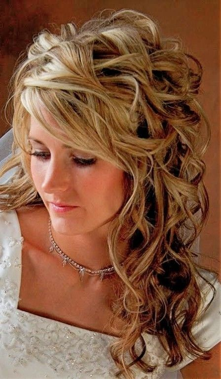 Wedding Hairstyles for Thin Hair, Wedding Hairstyles For Thin Medium Length Hair | Curly wedding ...