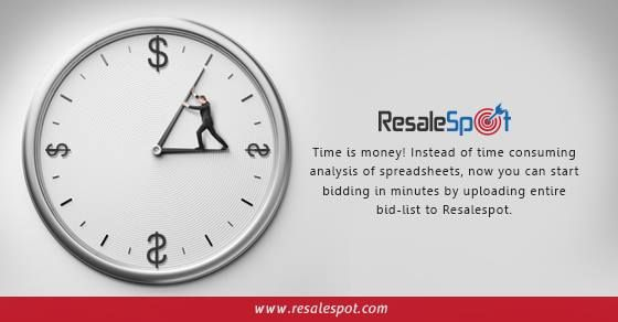 Time is money! Instead of time consuming analysis of spreadsheets, now you can start bidding in minutes by uploading entire bid-list to Resalespot. www.resalespot.com
