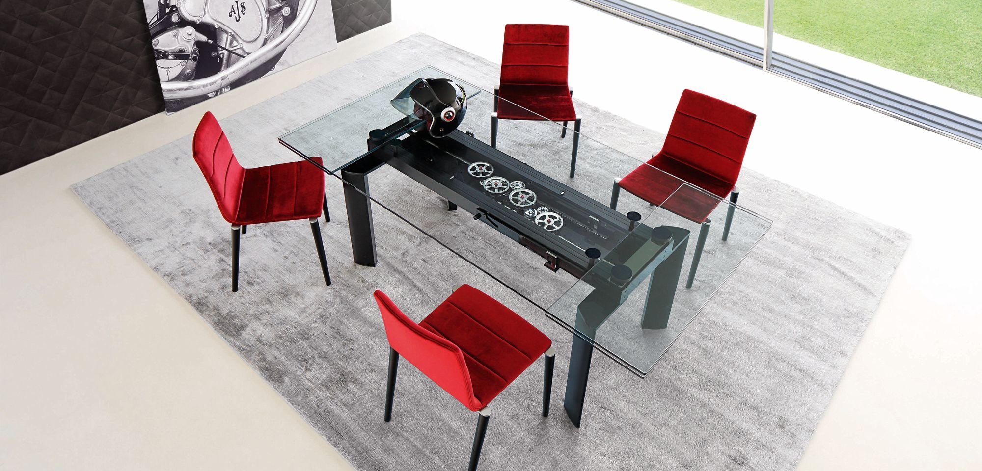 table de repas astrolab roche bobois roche bobois. Black Bedroom Furniture Sets. Home Design Ideas