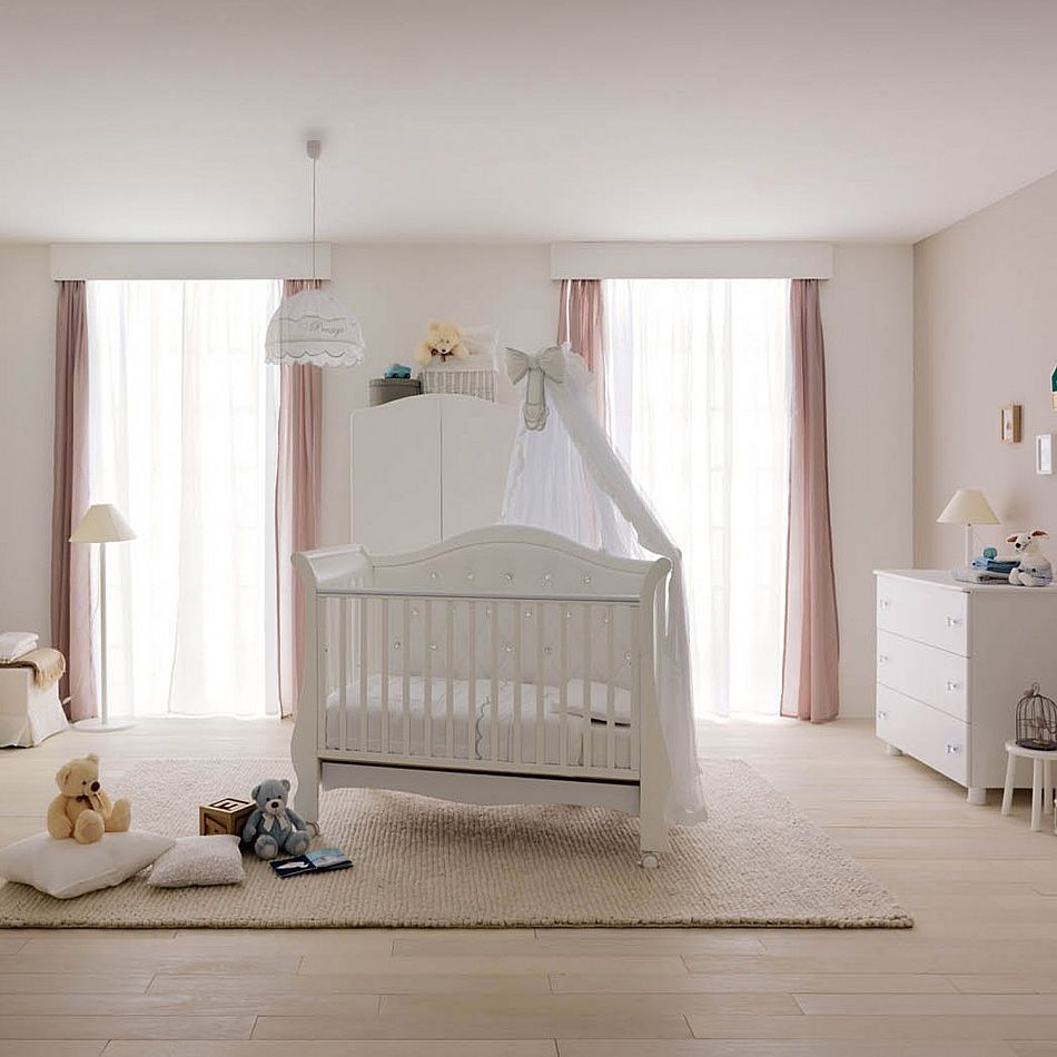 Wooden baby cot and chest of drawers set Naturale by Pali baby