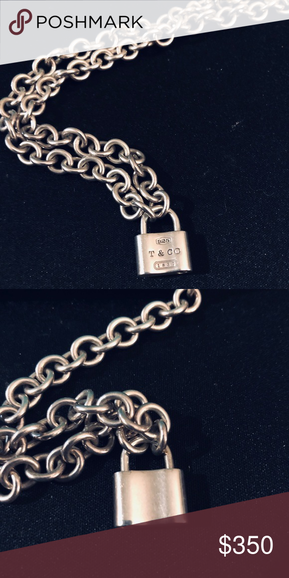 056199d43 Authentic tiffany and co. Padlock necklace Sterling silver Tiffany and Co.  1837 lock pendant necklace Condition is very good Comes with box Chain  Length is ...