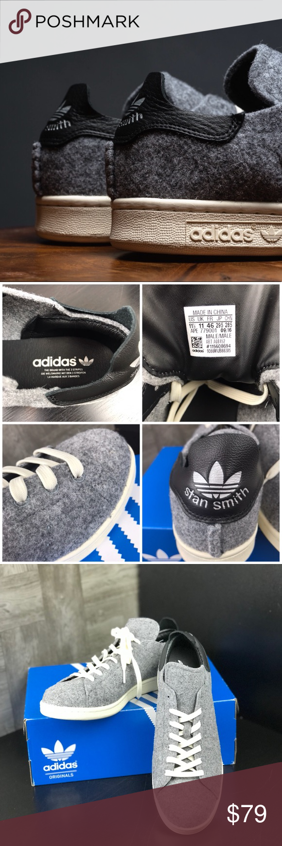 23a8583431 NWT Adidas Stan Smith PC Grey M Brand new with box. Price is firm!