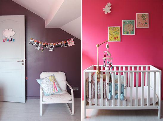 1000 images about chambre pour bb on pinterest - Chambre Rose Et Violet