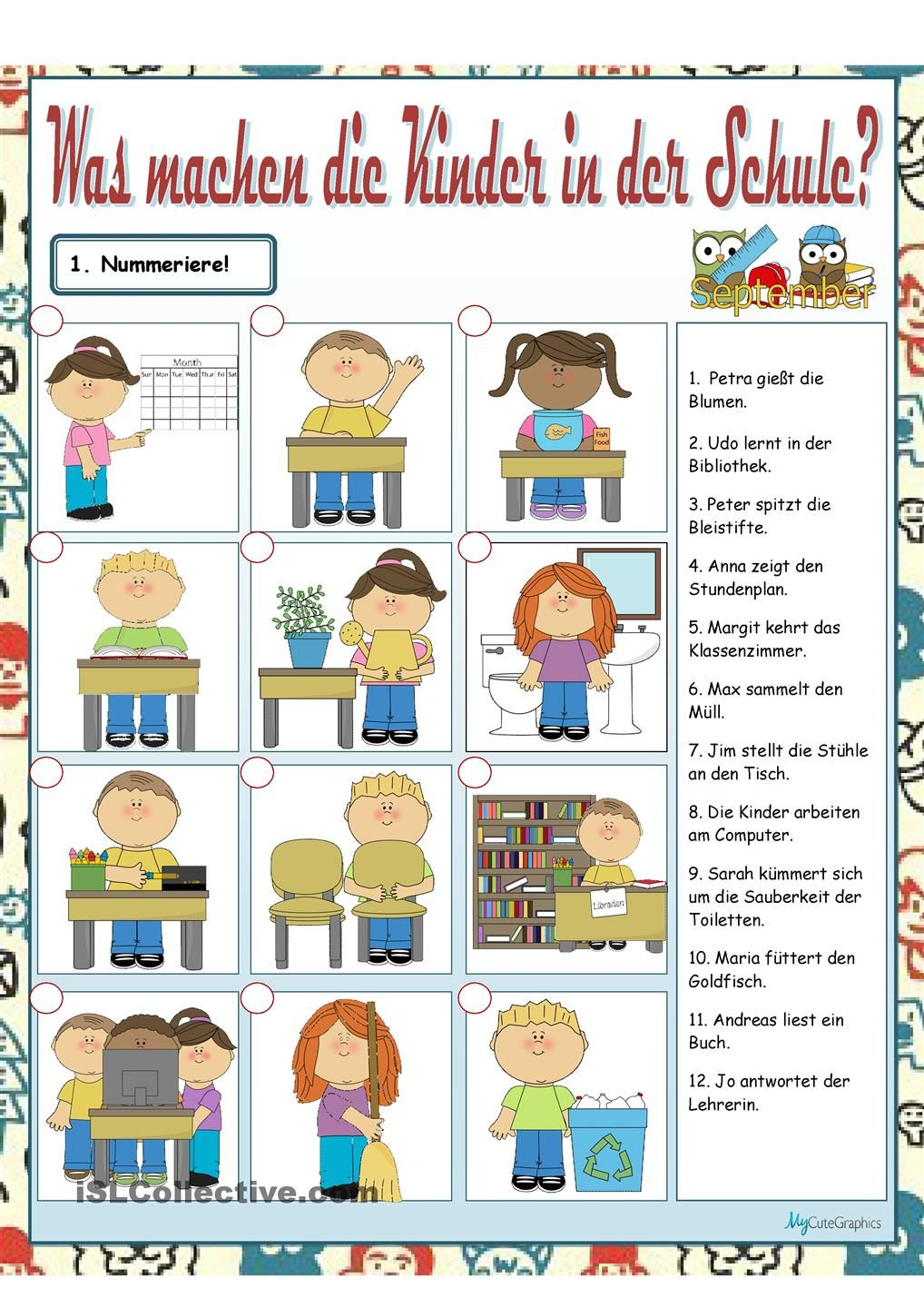 Was machen die Kinder? | Deutsch | Pinterest | German, Deutsch and ...