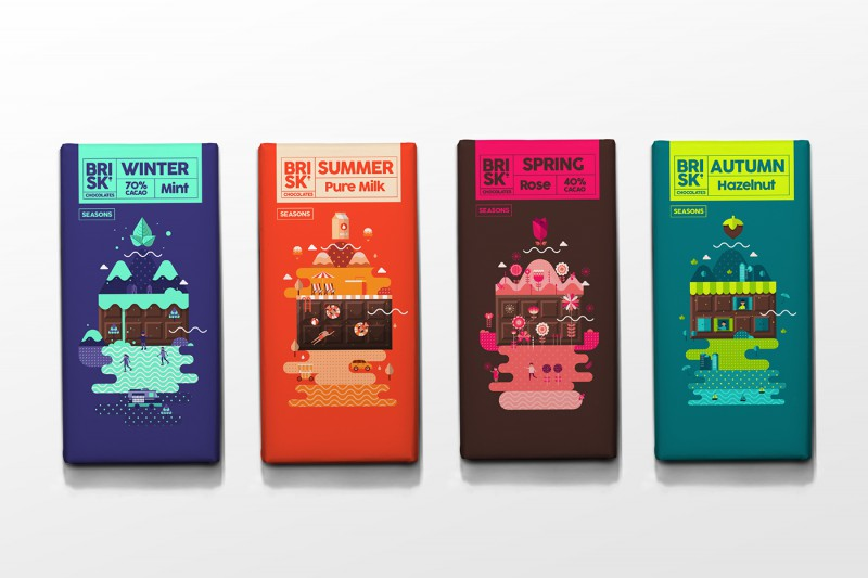 BRISK Chocolate Packaging is designed for all seasons  AterietAteriet  Food Culture