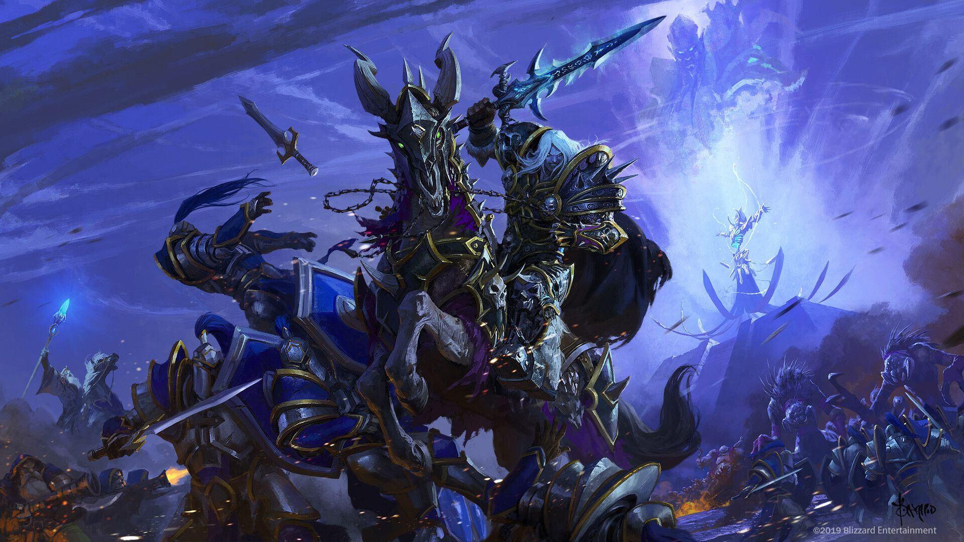 Arthas And Archimonde By Bayard Wukey Art I Did For Blizzard