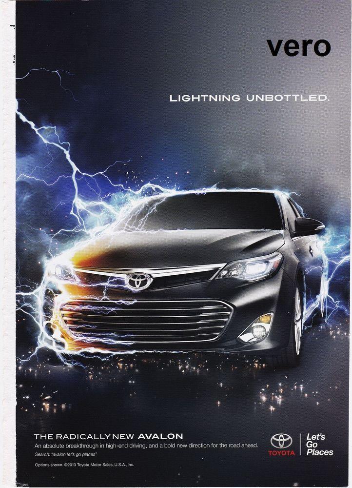 magazine ad toyota avalon advertisement print clippin car automobile magazine ad ads