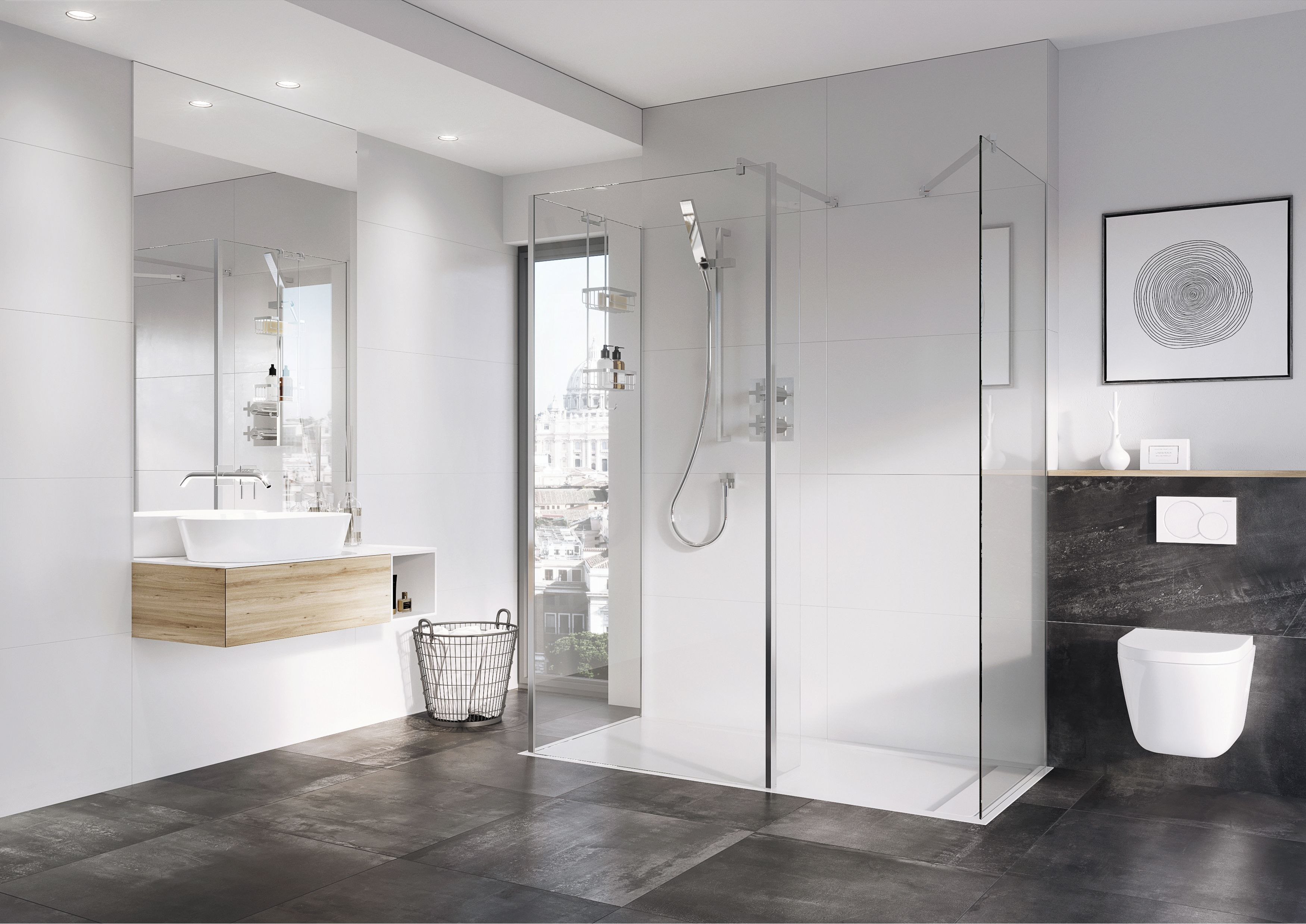 Select Wetroom Panels with 8mm or 10mm thick glass #glass #grey ...