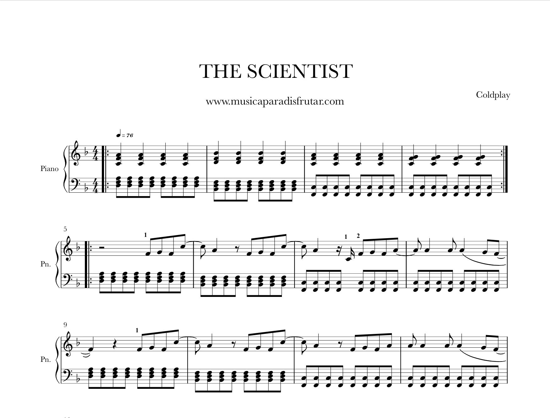 Coldplay the scientist piano sheet music learn to play today the coldplay the scientist piano sheet music learn to play today the scientist coldplay piano baditri Gallery