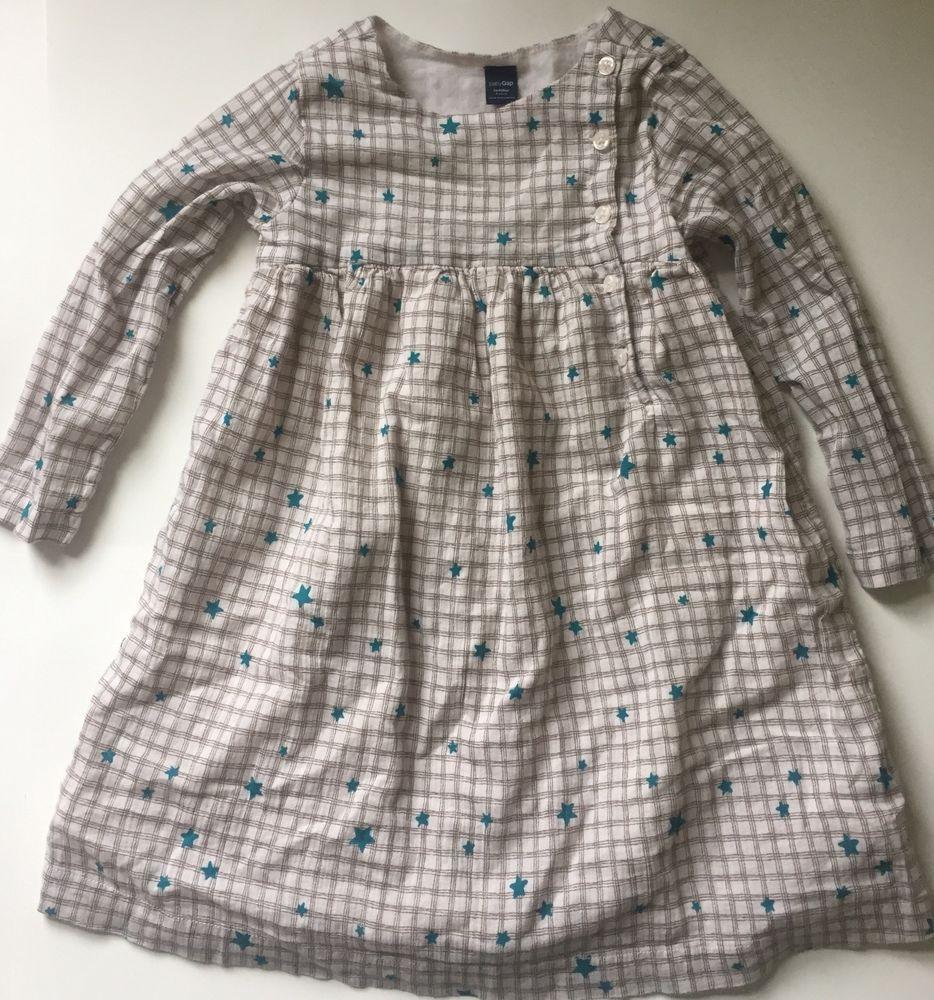 Baby Gap Ivory Brown Plaid Teal Stars Long Sleeve Dress Size 4 Years Long Sleeve Dress Newborn Dresses Sleeves [ 1000 x 934 Pixel ]