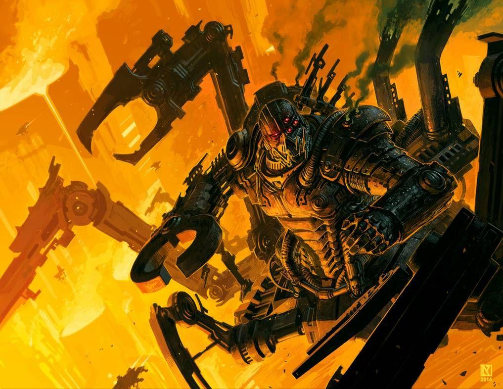 Dark tech Priest Solon by NicholasKay | Warhammer art ...
