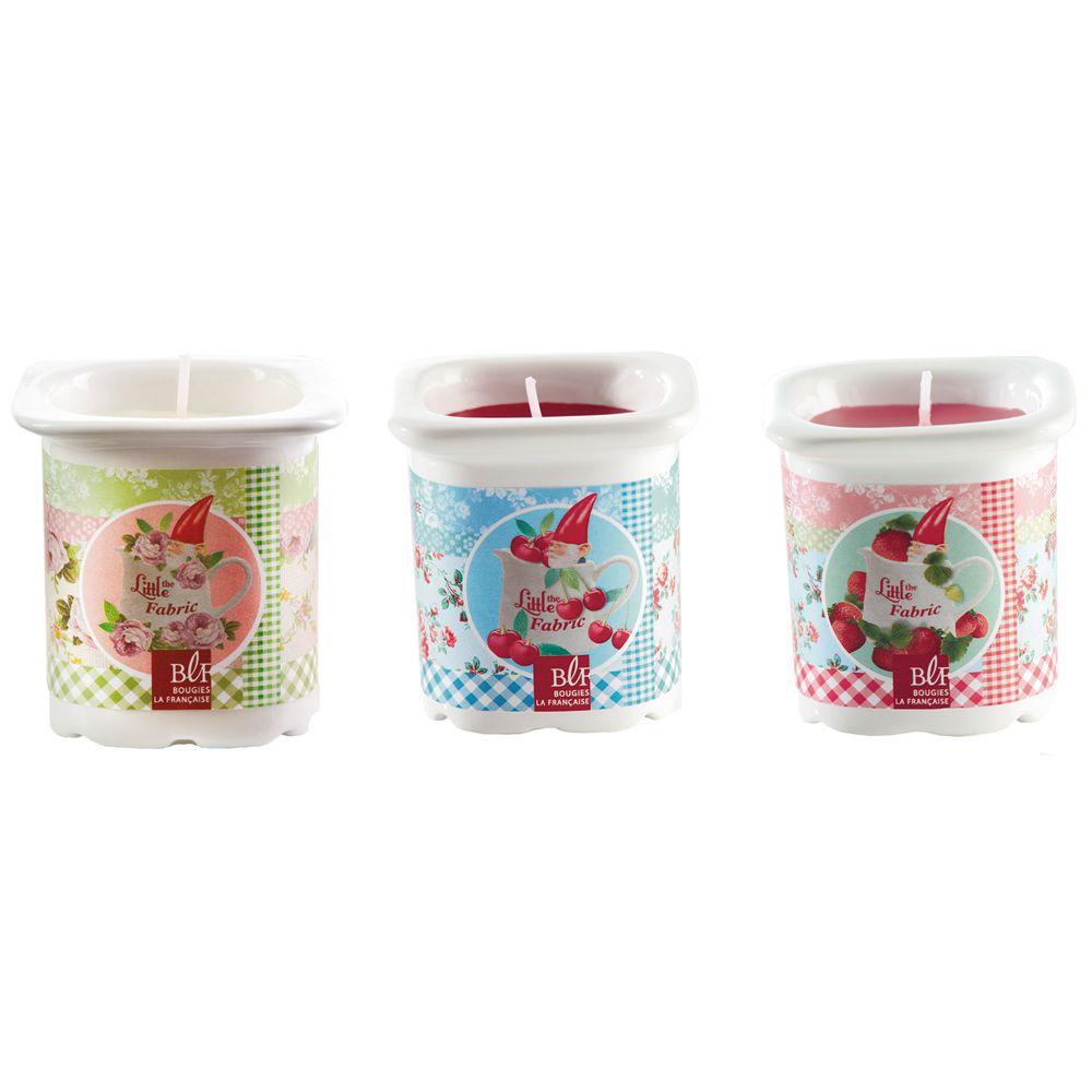 ps ne pas jeter les pots de yaourt bougies parfum es d cal es de la marque bougies la. Black Bedroom Furniture Sets. Home Design Ideas