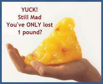 Don't be mad that you ONLY lost ONE pound