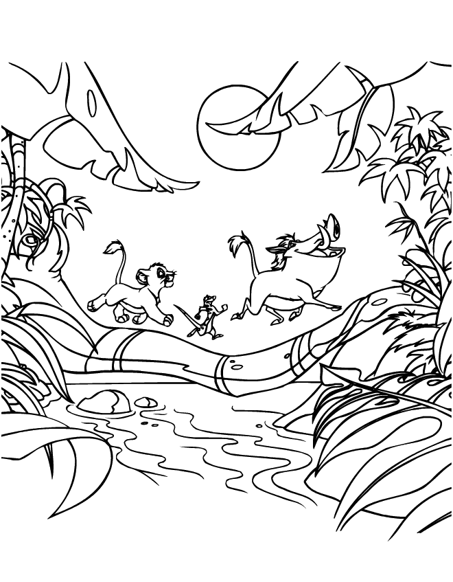 Disney Coloring Pages Free Lion King Beauty And Beast Little