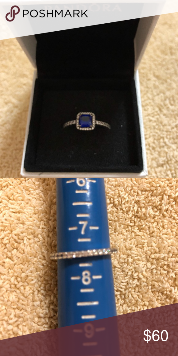 1b8961baf Pandora Ring Timeless Elegance - Blue Pandora Ring Timeless Elegance - Blue,  great condition, comes with box. Size 7.5 Pandora Jewelry Rings