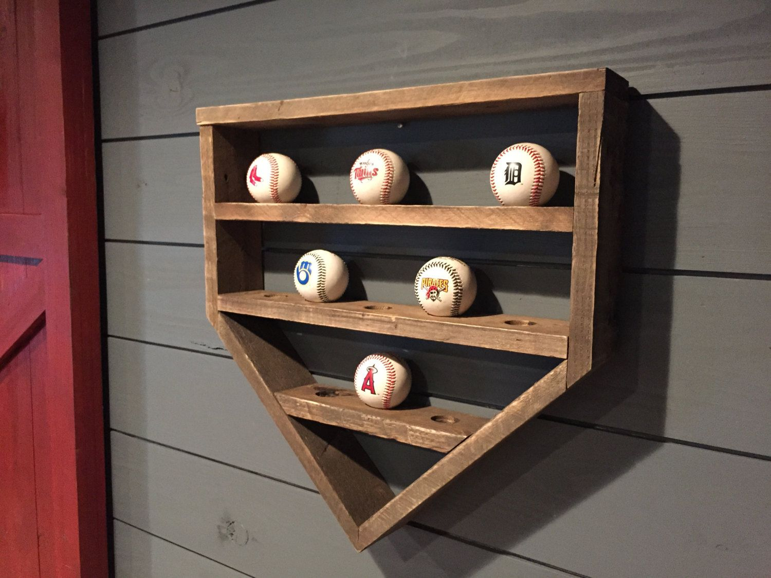 Baseball Shelf Wooden Home Plate By LennyandJennyDesigns