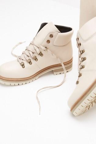 Mint Velvet Janny Chalk Hiking Boots