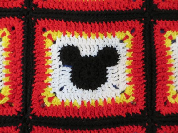 Pattern Mickey Mouse Blanket. Great for a by Acrochetaddiction | Sew ...
