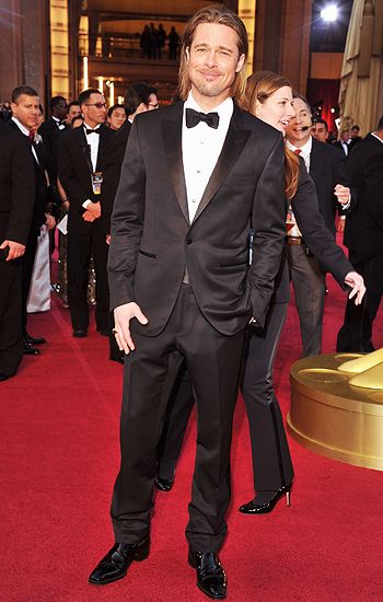 Brad Pitt on the red carpet at the 2012 Oscars in Hollywood