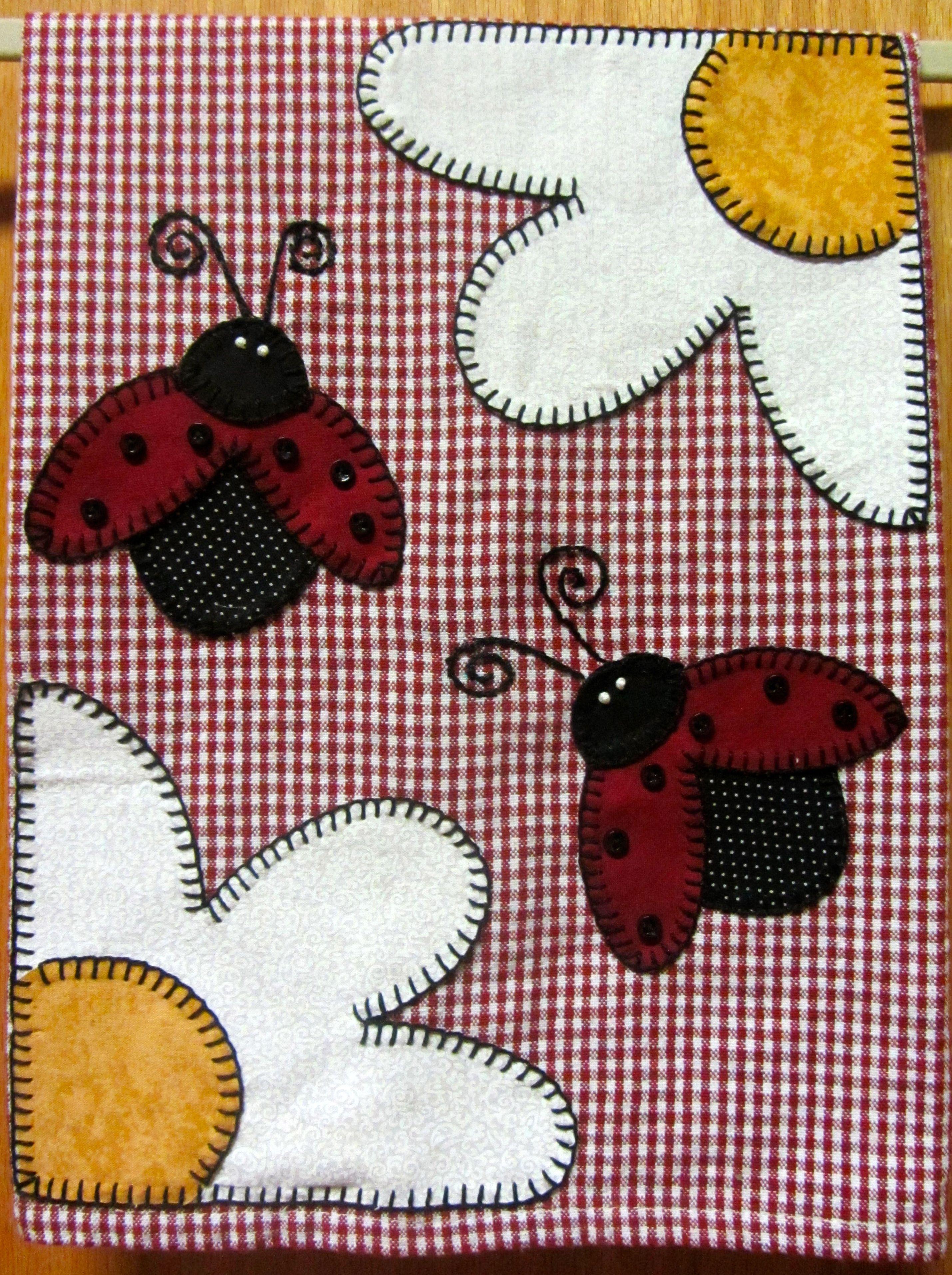 lady bug tea towel