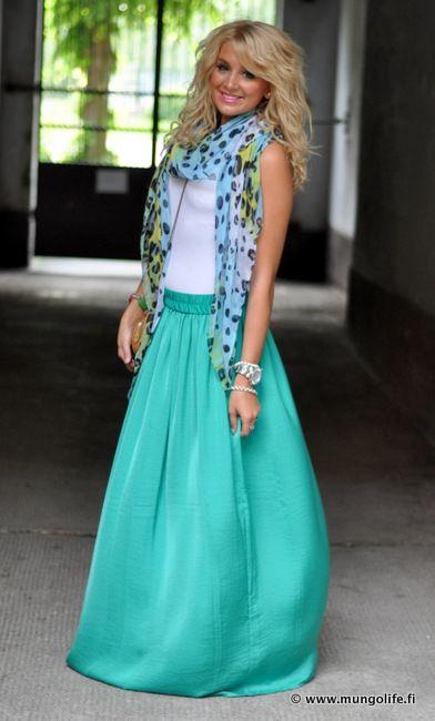 Scarf on summer // Blogger Fashion Mil ideas