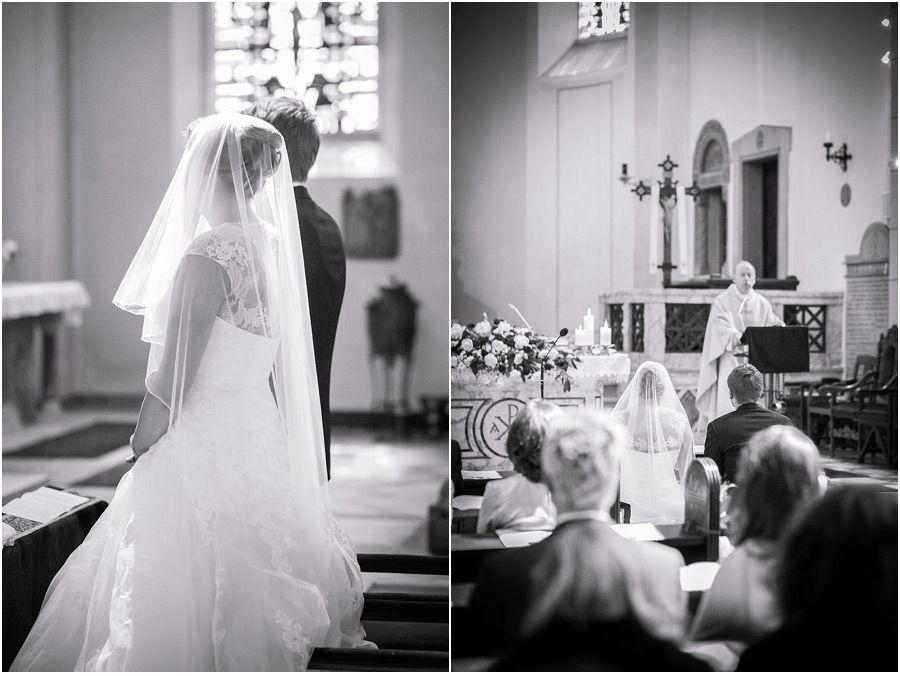 Kirchliche Trauung, Brautpaar, Braut, Bräutigam, Schleier ...