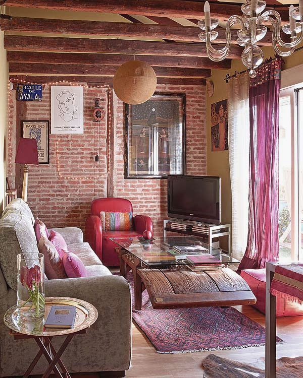 Chic Interior Attic Design With Bohemian Style A Little Is Very Attractive For The Inspiration Living Room