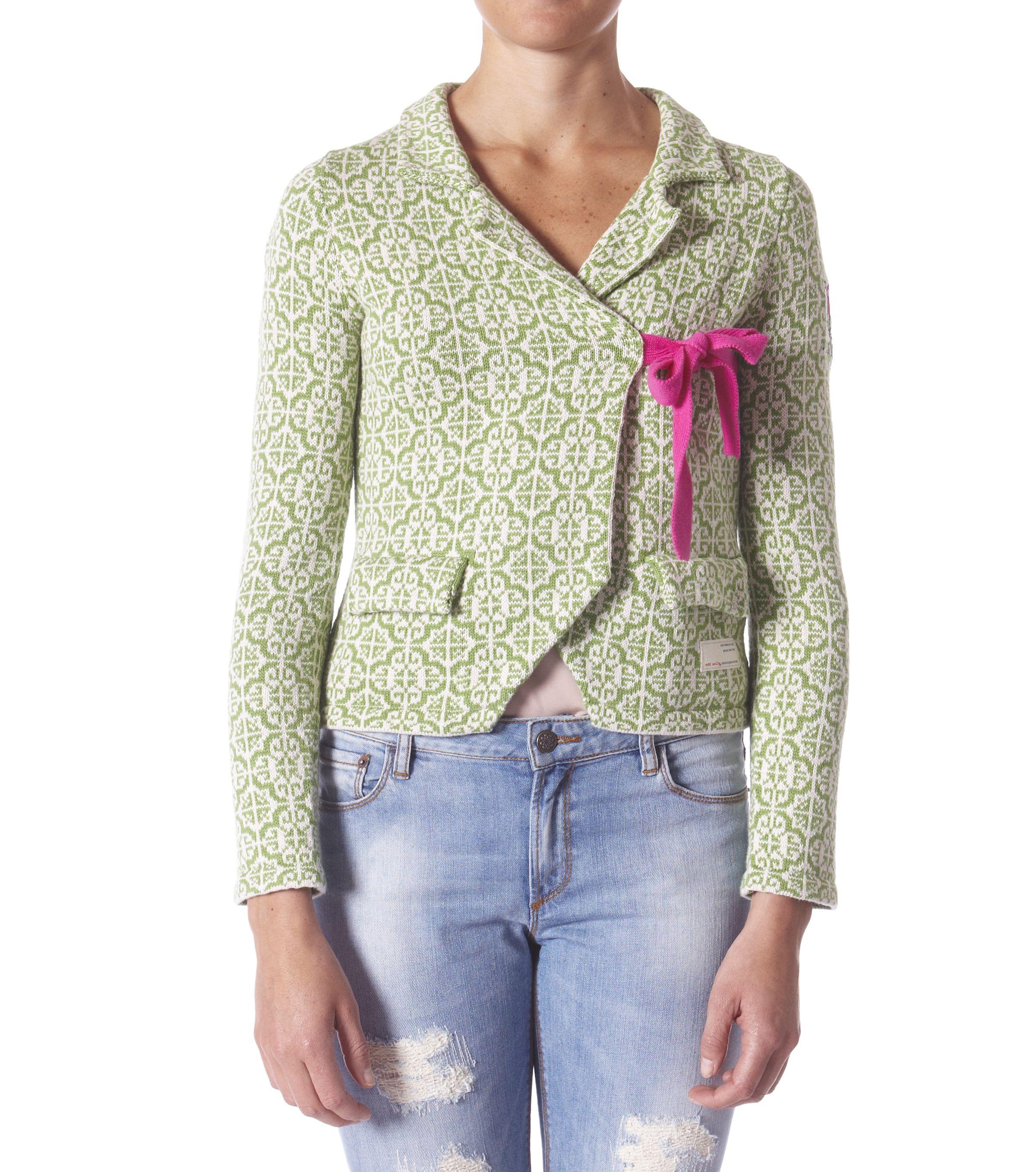 Odd Molly lovely knit jacket mid green