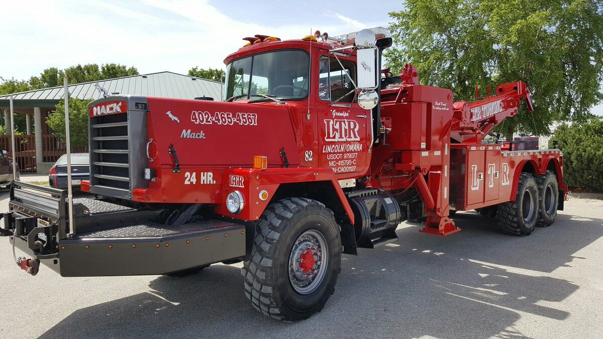 Ltr Towing Recovery Lincoln Ne Mack Rm6858s 6x6 W 40 Ton Unit Heavy Duty Trucks Tow Truck Big Trucks