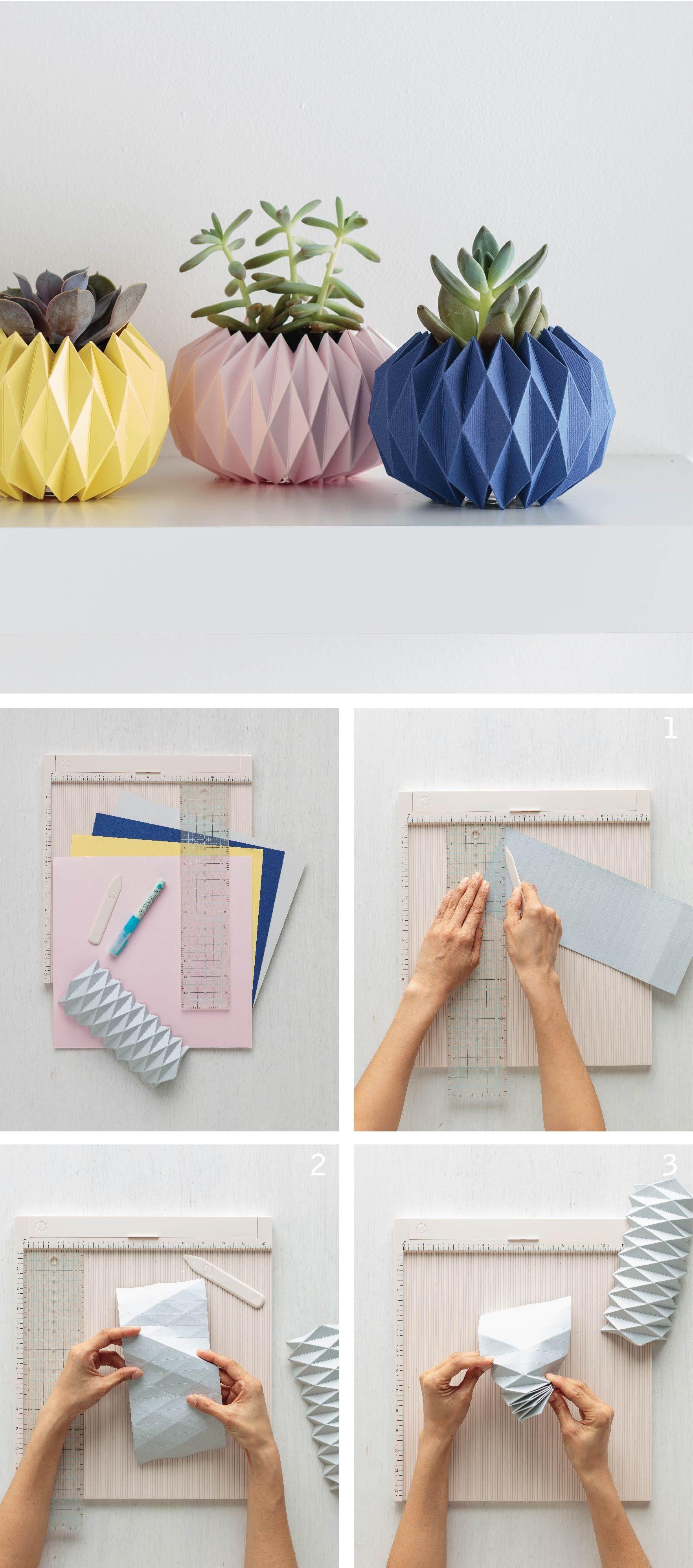 Origami Pflanzer Abdeckungen