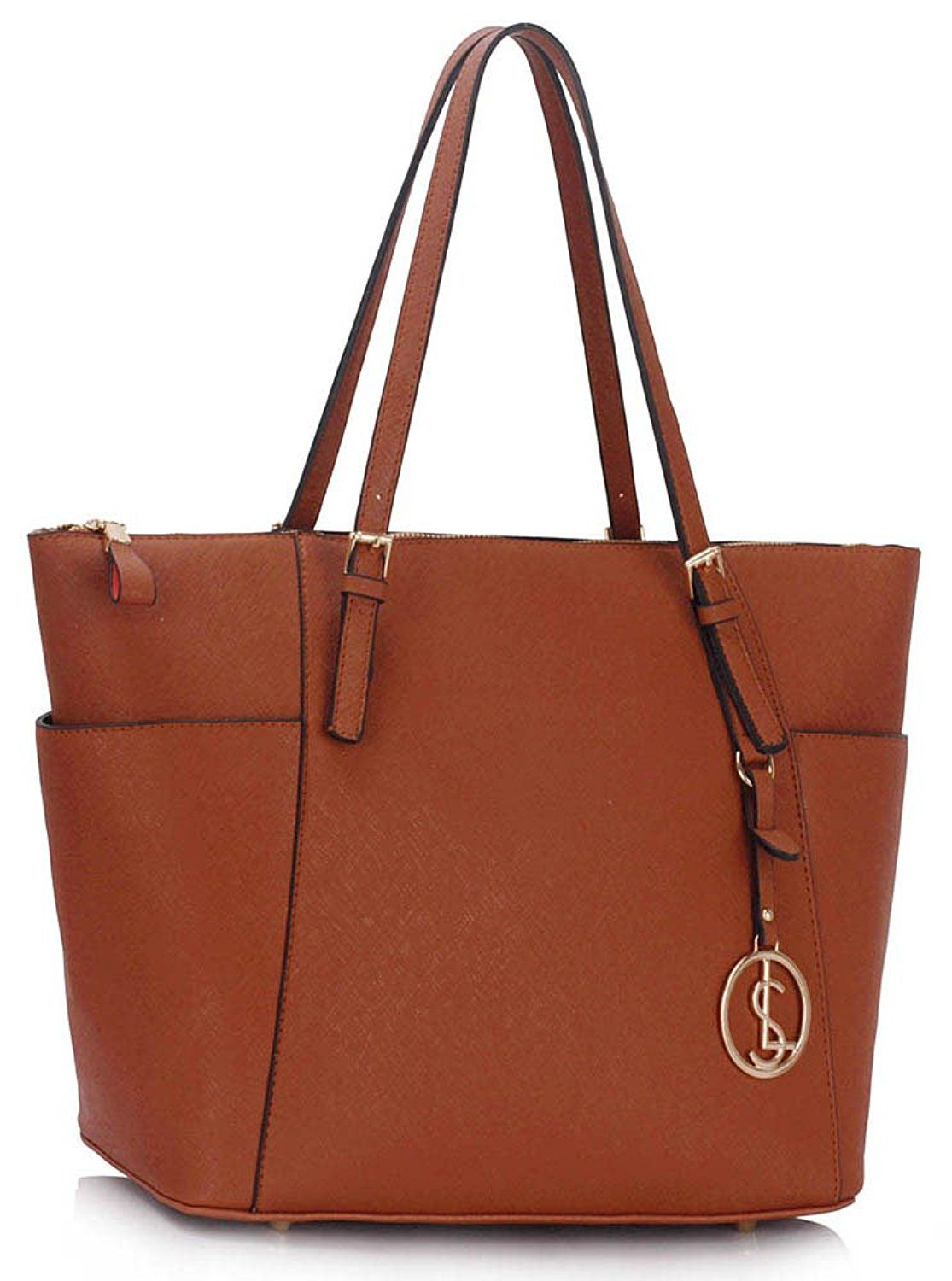 Womens Tote Handbags Las Large Bag Designer Faux Leather Celebrity Style New