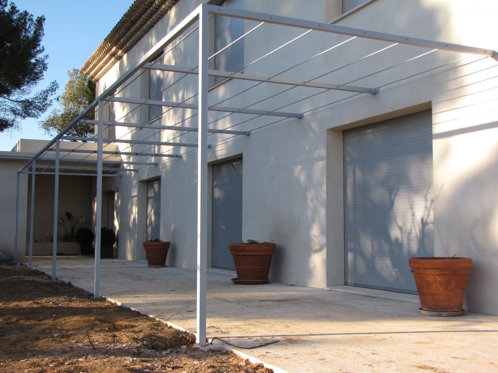 pergola metallique moderne diy pinterest pergola pergola metallique et pergola terrasse. Black Bedroom Furniture Sets. Home Design Ideas