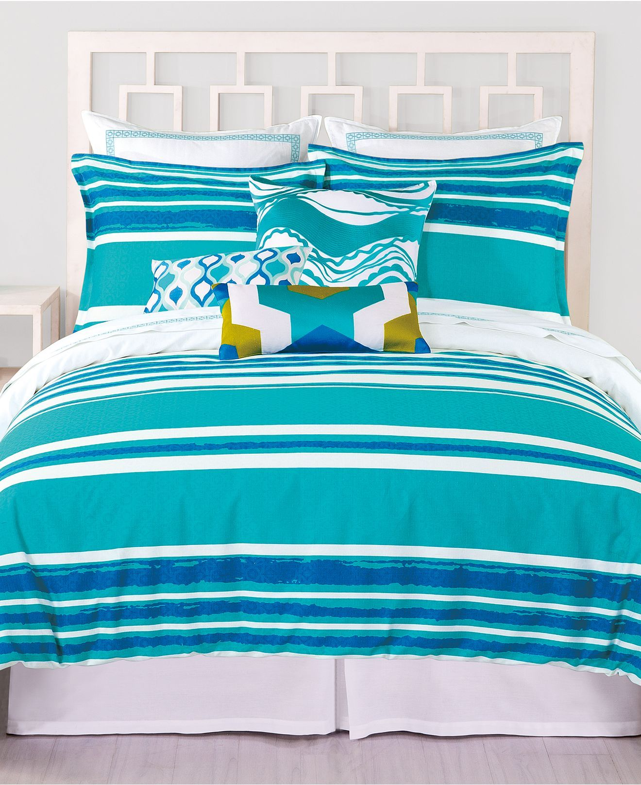Trina Turk Bedding Horizon Stripe Comforter And Duvet Sets