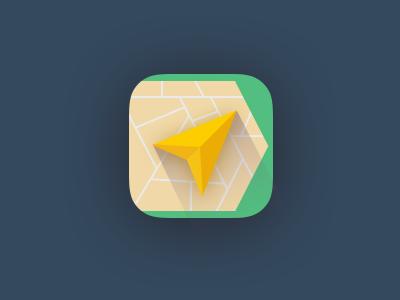 Yandex Navigator Icon | iOS 7 App Icon Design | App Icon