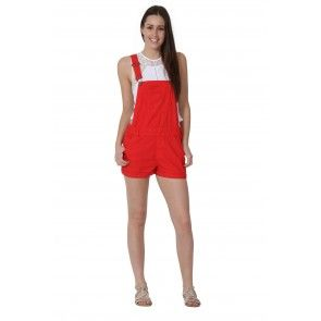 bd1340bb857 USKEES ANNA Dungaree Shorts in  red.  overalls  shortalls  USKEES   festivalfashion