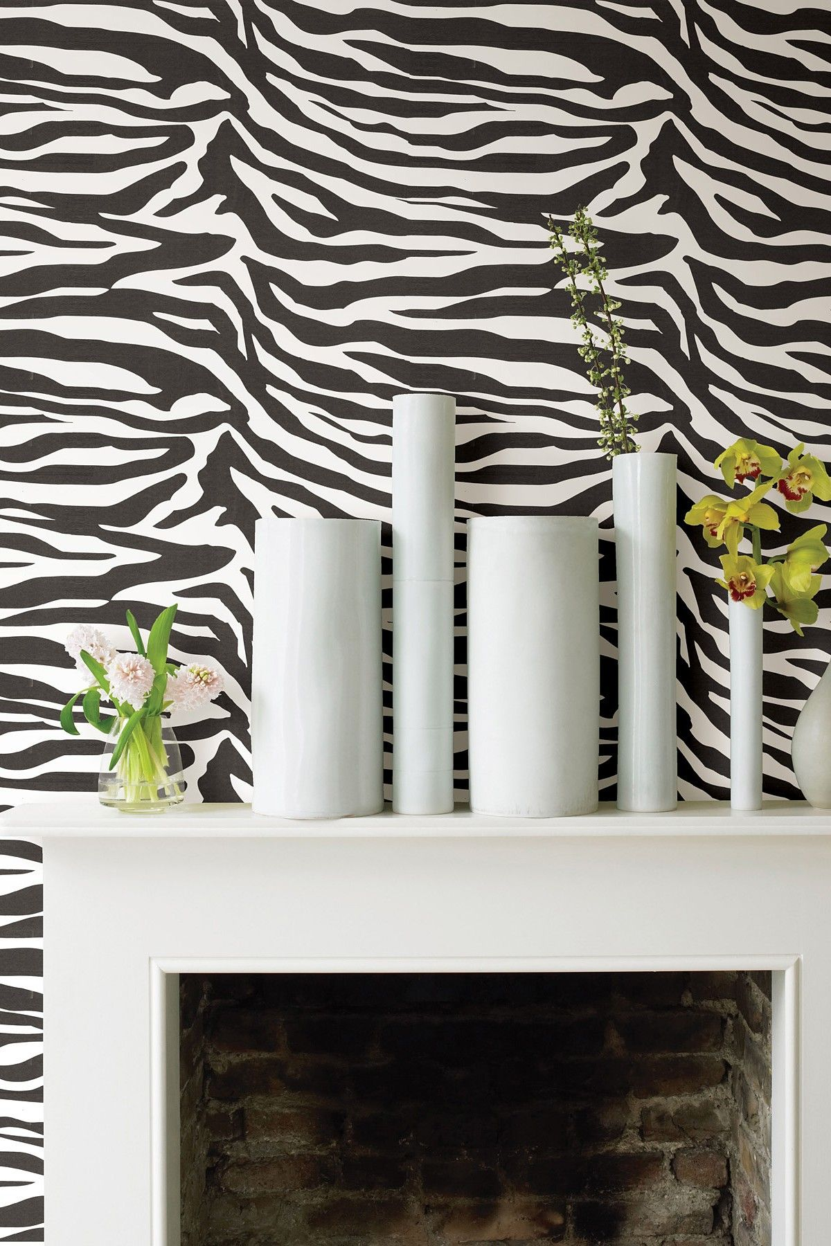 Zebbie White Zebra Print Wallpaper By WallPops! On @HauteLook