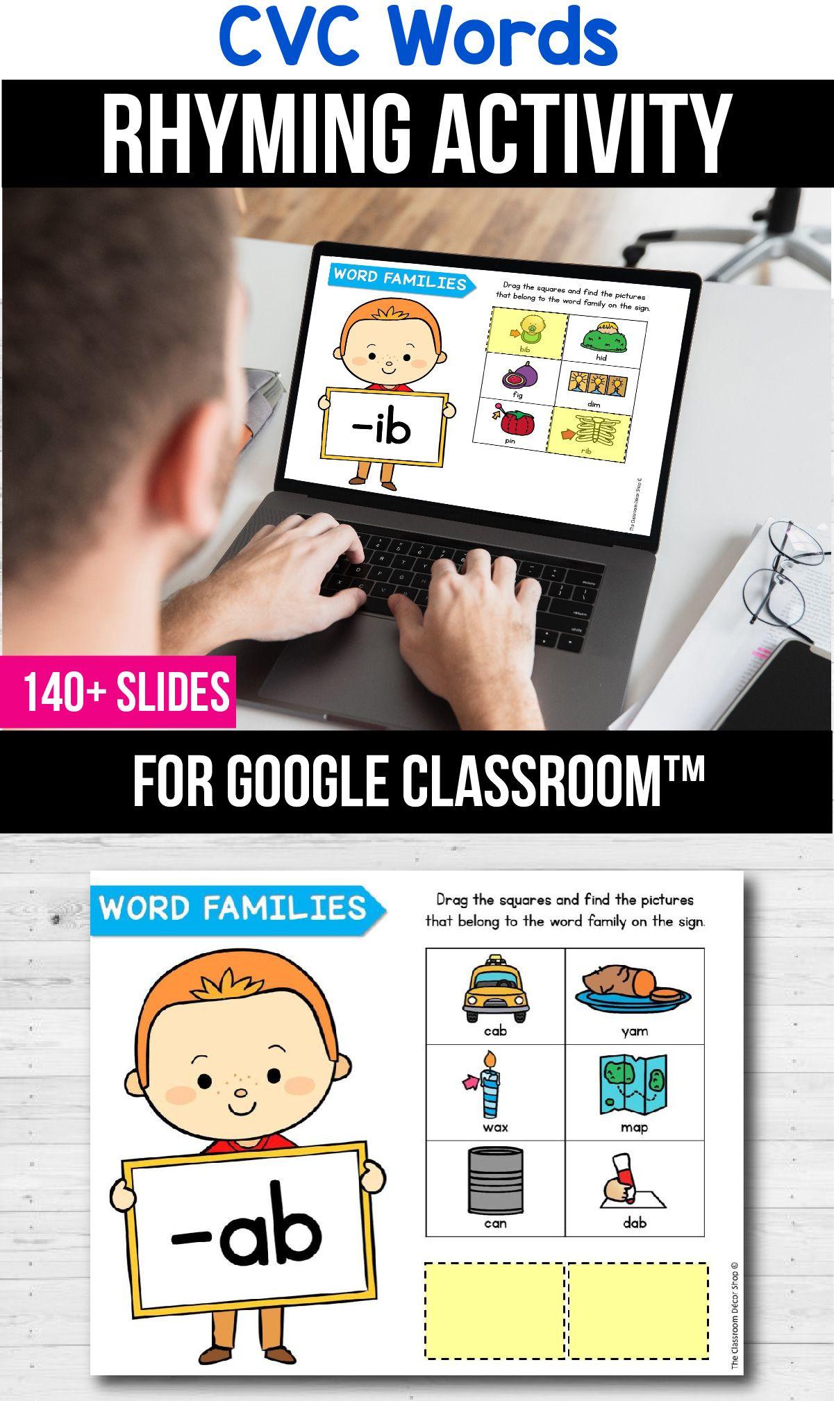 Classroom Cvc Word Families Kindergarten Distance