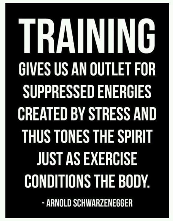 Training gives us an outlet for suppressed energies created by ...