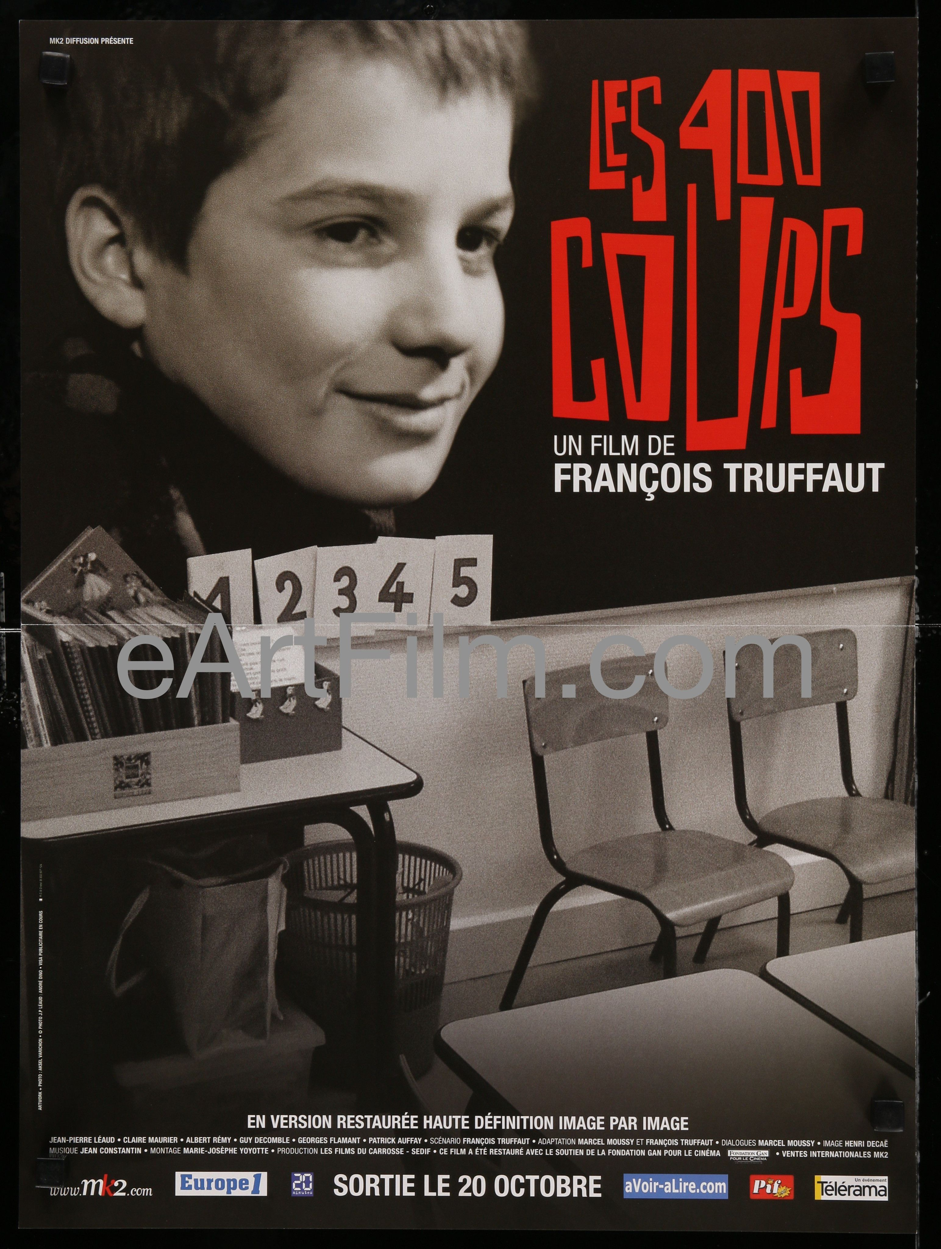 The 400 Blows Movie POSTER 27 x 40 Francois Truffaut NEW USA Japanese A