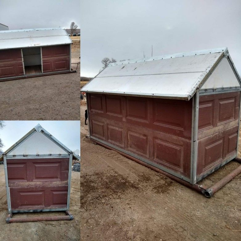 upcycle garage doors in 2020 | Portable sheds, Shed, Farm life