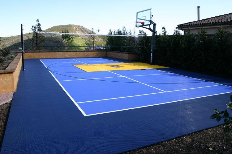 Snap Sports Outdoor Basketball Courts Gym Flooring Backyard