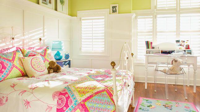 Un camaïeu de rose dans la chambre d\'enfant   Bloc, La tete et Tete de