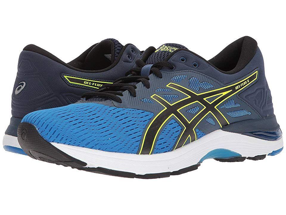 Asics Gel Flux 5 Directoire Blue Black Safety Yellow Men S Running Shoes The Asics Gel Flux 5 Running Shoe Will Have Y Asics Asics Gel Running Shoes For Men